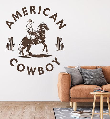 """Vinilo decorativo """"cowboy"""""""
