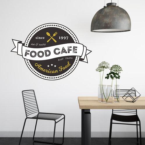 """Vinilo impreso """"food cafe"""""""