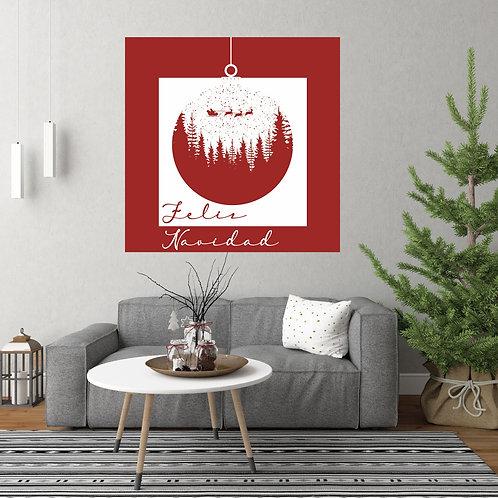 """Vinilo impreso """"feliz navidad"""""""