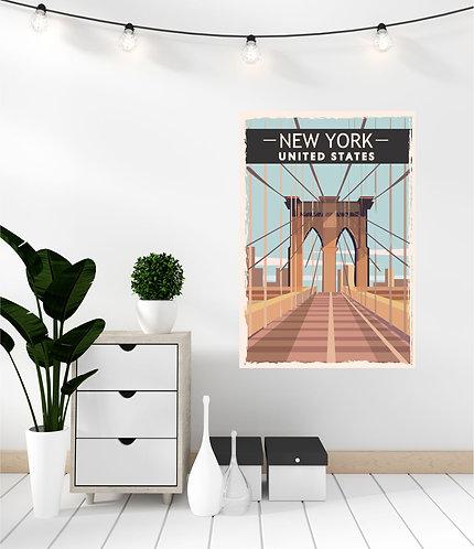 """Vinilo impreso """"New York"""""""