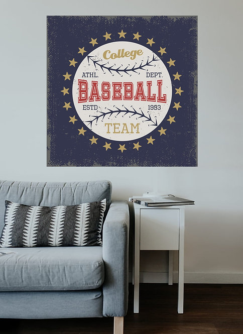 "Vinilo impreso ""baseball"""