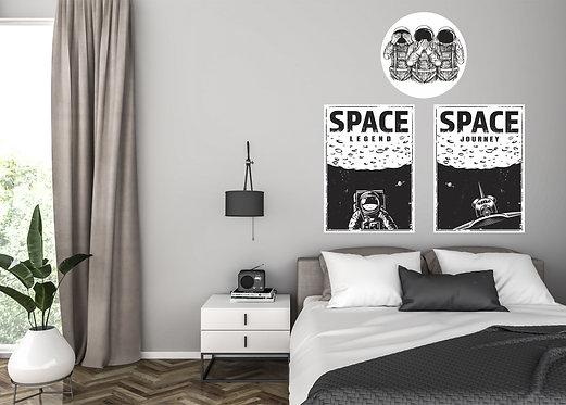 """Vinilo impreso """"space"""""""