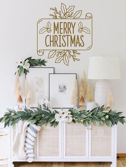 "Vinilo decorativo ""pergamino navidad"""