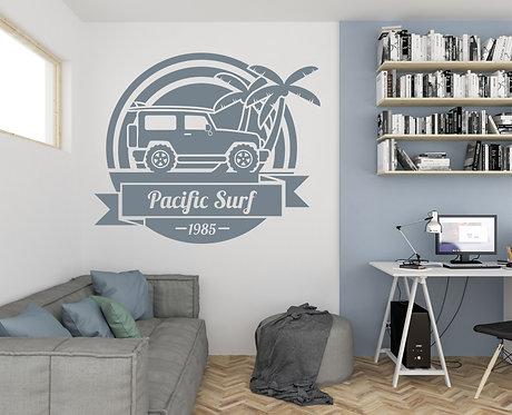 """Vinilo decorativo """"pacific surf"""""""