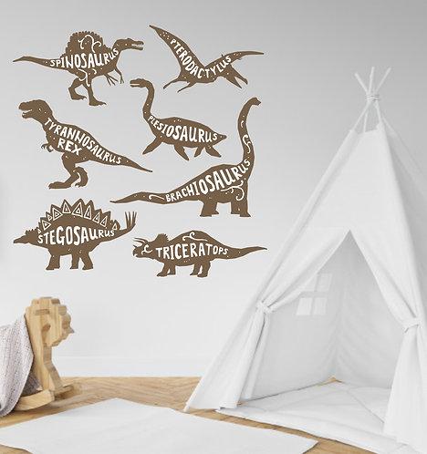 """Vinilo decorativo """"dinosaurios"""""""