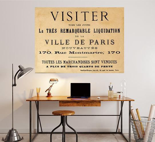 """Vinilo impreso """"visiter"""""""