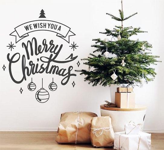 "Vinilo decorativo ""mensaje navideño"""