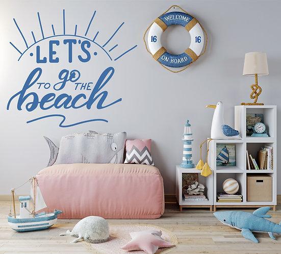 """Vinilo decorativo """"let's beach"""""""
