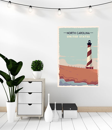 "Vinilo impreso ""North Carolina"""