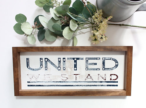United We Stand Vintage Finish