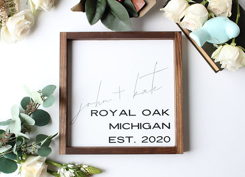 The Royal Oak Personalized Name Sign