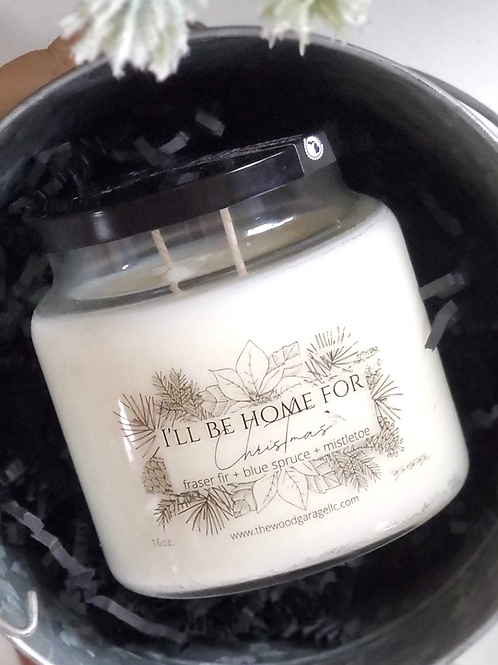16oz Apothecary I'll Be Home For Christmas Candle