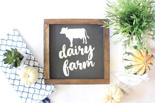 Dairy Farm Wood Sign
