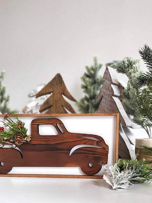 Farmhouse Truck Wood Sign