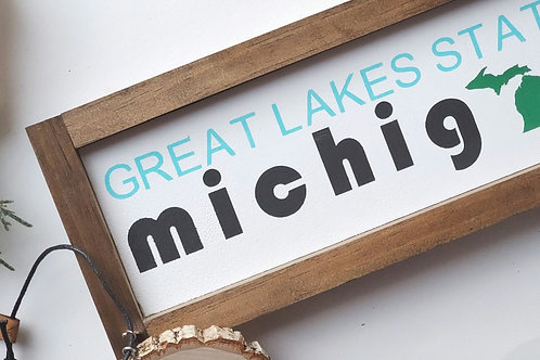 Great Lakes State Sign + Ornament