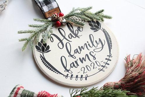 Family Farm Oversized Ornament/Mini Sign