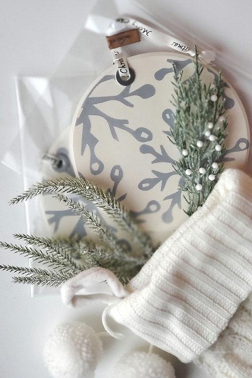 Snowflake Wood Ornament
