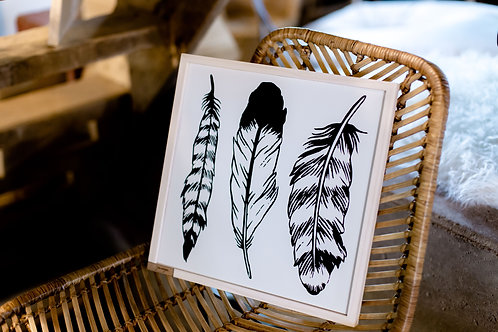 Modern Feather Wall Art