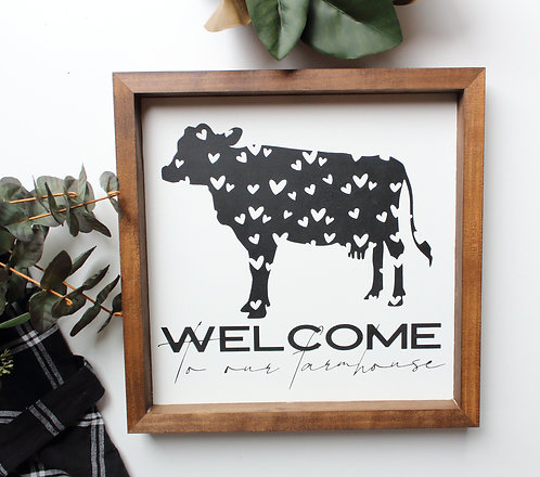Welcome to our Farmhouse Heart Cow