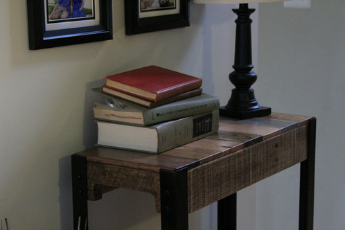 If You Love Color, Youu0027ll Surely Enjoy This Modern Reclaimed Console Table.  Our Wood Is Selected Based On Color To Ensure That We Have An Assortment Of  ...