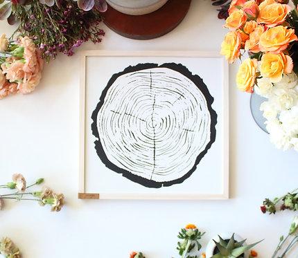 Natural Wood Round Wall Art
