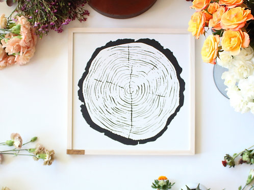 Natural Wood Round Wall Art