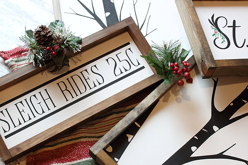 Sleigh Rides Wood Sign