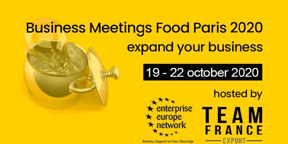Двустранни срещи (B2B) по време на Business Meeting Food Paris 2020