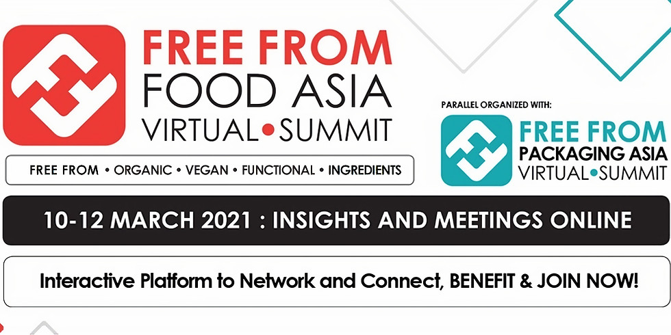 Виртуални двустранни срещи (B2B) по време на Free From Food Asia Virtual Summit и Free From Packaging Asia Online
