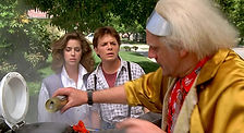7. Claudia Wells, Michael J Fox, Christopher Lloyd in 1985's Back to the Future - Universa