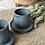 Thumbnail: Ensemble de 2 tasses et sous-tasses Bleu de Gris