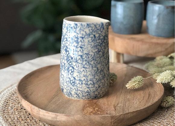 Pot à lait motifs bleus