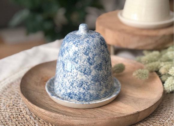 Beurrier à cloche motifs bleus