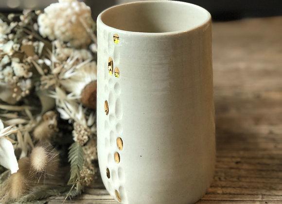 Vase gouttes d'Or