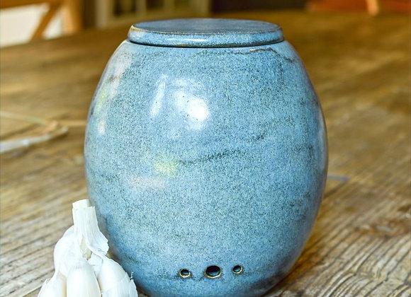 Pot à ail Bleu de Gris