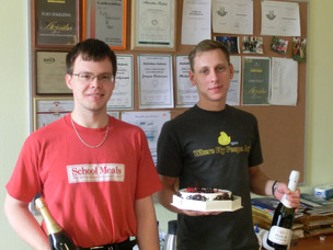 Andrejs and Jurijs defend their Bachelor theses