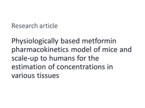 Physiologically based pharmacokinetic model