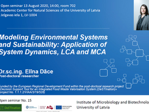 Modelling Environmental Systems & Sustainability