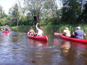 Kanoe trip on the river Memele