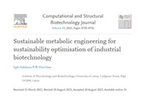Sustainable Metabolic Engineering