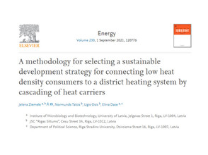 New article published in Energy