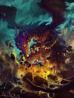 LINEART STUDIO_purple-dragon