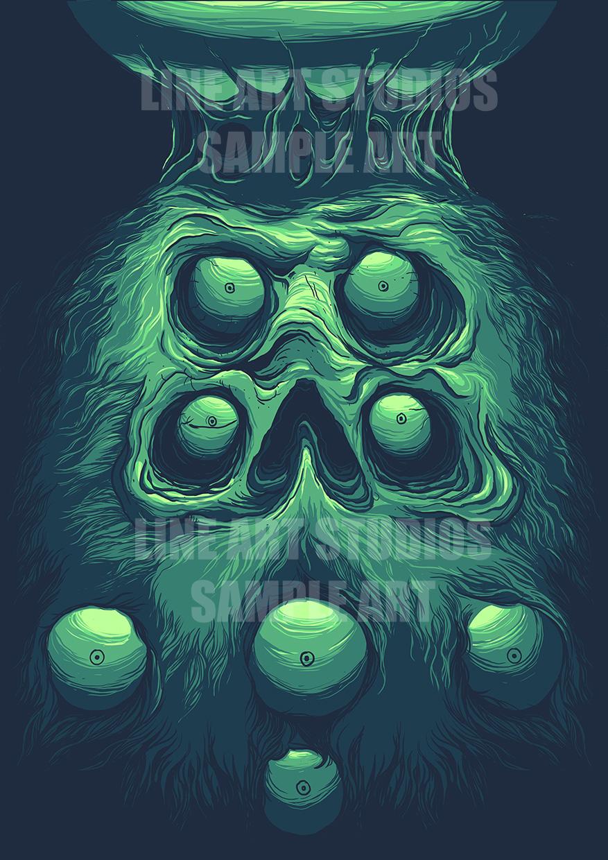 Beard eyes skull3
