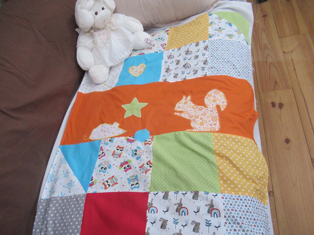 Couverture en patchwork pour bébé et enfant