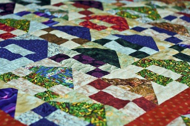 une couverture en patchwork traditionnel