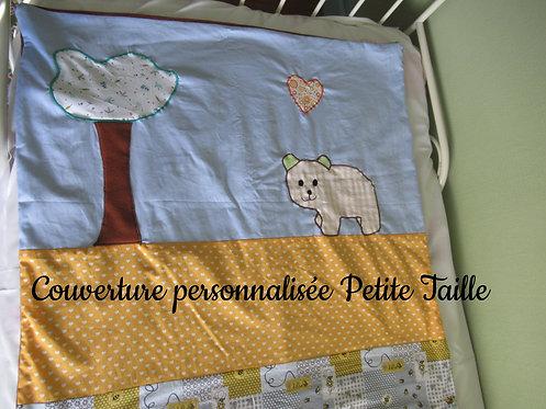 petite couverture bébé enfant inspiration patchwork commande personnalisée