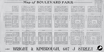 Wright & Kimbrough Map of Boulevard Park