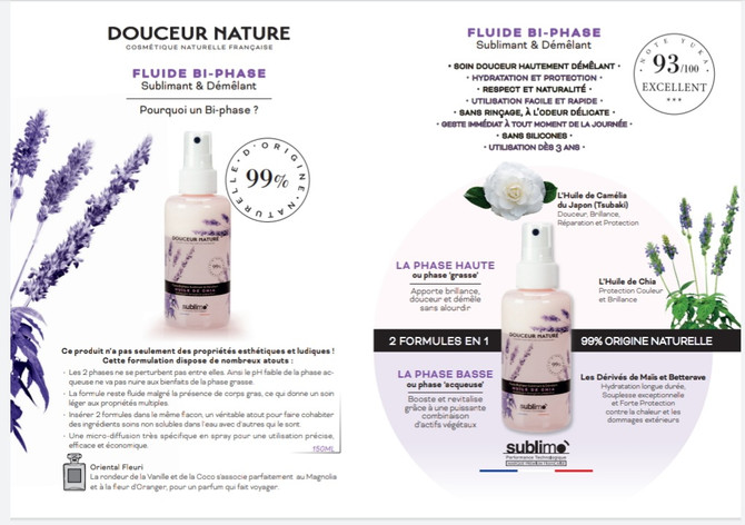 """Nouvelle gamme """"Douceur Nature"""""""