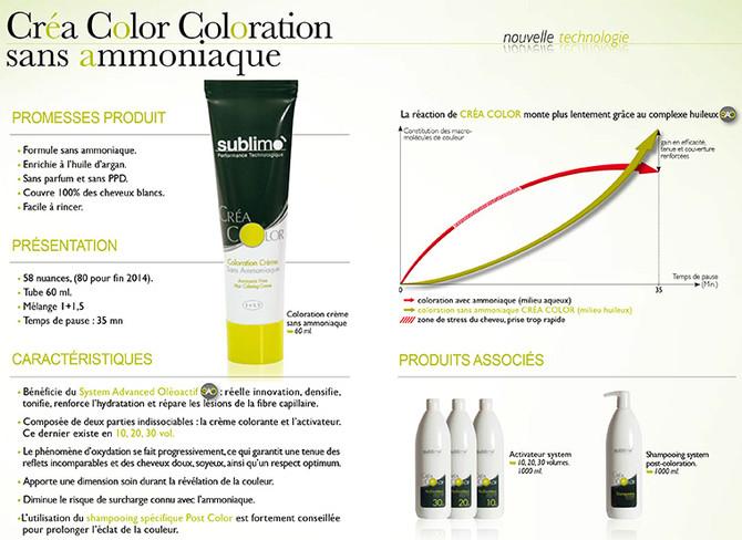 Créa Color : coloration crème sans ammoniaque !