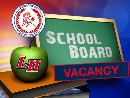 LHSD seeking New Board Member to Fill Vacancy Updated